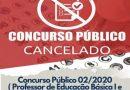 Prefeitura de Lucélia cancela realização de concurso público
