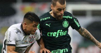 Palmeiras e Corinthians empatam no Brasileirão em jogo morno após quedas