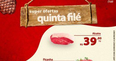 Ofertas da Quinta Filé no Supermercado Santa Terezinha de Lucélia – Informe Publicitário